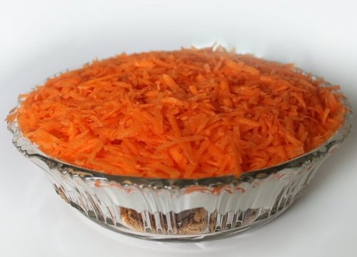 grated carrots for carrot cake recipe